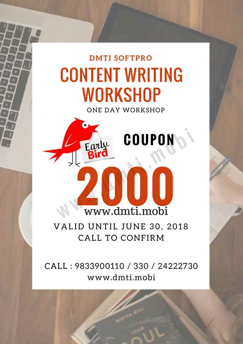 Content Writing One Day Workshop Mumbai with Certification